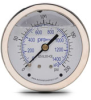 0-200 psi Liquid filled Pressure Gauge with 2.5 inch mechanical dial -- G25-SL200-4CB