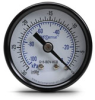 -30 to 0 inch Hg Vacuum Pressure Gauge with 1.5 inch mechanical dial -- G15-BDV-8CB - Image