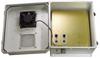 14x12x07 Fiberglass Reinf Polyester FRP Weatherproof Outdoor IP24 NEMA 3R Enclosure, PoE MNT PLT, Mechanical Thermostat 48 VDC Fan Gray -- TEF141207-40F -Image