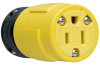 Pass & Seymour® -- Rubber Housing Connector, Yellow - 1547