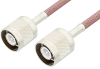 SC Male to SC Male Cable 36 Inch Length Using RG142 Coax, RoHS -- PE3334LF-36 -Image