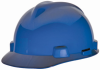 MSA V-Gard® Cap, Blue, Slotted, Fast-Trac® Ratchet -- 463943R -- View Larger Image