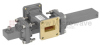 20 dB WR-90 Waveguide Crossguide Coupler with UG-39/U Square Cover Flange and SMA Female Coupled Port from 8.2 GHz to 12.4 GHz in Bronze -- FMWCT1068 -Image