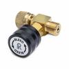 Male Quick-test x female Quick-test in-line vent valve, brass -- QTHA-TVLB-HC