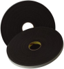 3M 4508 Black Single Sided Foam Tape - 3/4 in Width x 36 yd Length - 1/8 in Thick - 06375 -- 051131-06375 -- View Larger Image