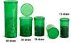Plastic Vials, Green Polypropylene Squeeze Top Vials -- 0745-01