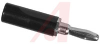 Banana Plug; Plug; 15 A; Black; Brass; Nickel Silver; 3500 V (RMS) (Min.) -- 70090237