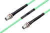 Temperature Conditioned TNC Female Bulkhead to TNC Female Bulkhead Low Loss Cable 200 cm Length Using PE-P142LL Coax -- PE3M0165-200CM -- View Larger Image