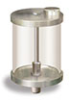 """(Formerly YB3186-15), Oil Reservoir with Filter, 1 qt Pyrex, 1/2"""" Male NPT -- B966-0324PB2W -- View Larger Image"""