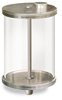 "(Formerly B966-16), Oil Reservoir, 1/2 gal Acrylic, 1/2"" Male NPT, Pipe Mount -- B966-0644AB1W -Image"