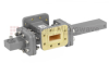 40 dB WR-90 Waveguide Crossguide Coupler with CPR-90G Flange and SMA Female Coupled Port from 8.2 GHz to 12.4 GHz in Bronze -- FMWCT1074 -Image