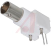 Connector; RF; BNC; Right Angle; PCB Jack; Low-Profile; White -- 70000388