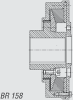 Kuesel Universal Joint Shaft Coupling -- BR 158