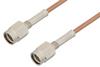SSMA Male to SSMA Male Cable 36 Inch Length Using RG178 Coax, RoHS -- PE33762LF-36 -Image