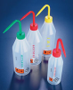 LDPE Sloped Shoulder Plastic Wash Bottles w/ Printed Labels -- 506905-0001