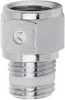 Nickel Plated Brass Pipe Fitting -- S2520 1/8-1/8 -- View Larger Image