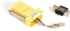 DB9 Colored Modular Adapter (Unassembled), Male to RJ-45, 8-Wire, Yellow -- FA4509M-YE