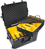 Pelican 1637 Air Case with Yellow Padded Dividers - Black | SPECIAL PRICE IN CART -- PEL-016370-0040-110 -Image