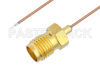 Pigtail Test Probe Cable SMA Female to Trimmed Lead 6 Inch Length Using PE-020SR Coax, RoHS -- PE3CA1104-6