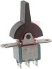 Switch, Miniature PADDLE, DPDT, (ON)-OFF-(ON) -- 70152399 - Image