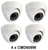 4pcsSony CCD, 480TVL, 24 IR, 3.6m lens, Night Vision Dome Camera