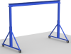 Adjustable Height Steel Gantry Crane, 1 ton Capacity -- AG-1 Series