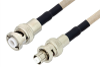 MHV Male to SHV Plug Cable 72 Inch Length Using RG141 Coax -- PE34413-72 -Image