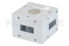 WR-112 Waveguide Circulator, 7.05 GHz to 10 GHz, 18 dB min Isolation, Cover Flange, Aluminum -- PEWCR1000 -Image