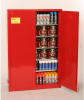 96-Gallon Paint and Ink Storage Manual Close Cabinet - Red -- CAB150-RED