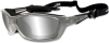 Wiley-X Brick Sunglasses with Silver Flash Lens and Crystal -- WX-855