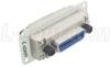 Reverse Entry IEEE-488 Bulkhead Adapter, Insulated, Female/Female -- CIB24BFR-I