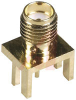 connector,rf coaxial,sma pcb edge mountjack recept,for 0.062 pc board,gold -- 70142707