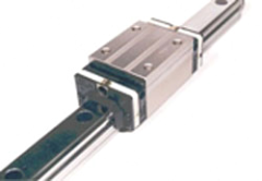 Linear guide bearing and rail assembly