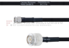 SMA Male to TNC Male MIL-DTL-17 Cable M17/84-RG223 Coax in 24 Inch -- FMHR0054-24 -Image