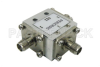 Circulator with 17 dB Isolation from 4 GHz to 8 GHz, 10 Watts and SMA Female -- PE83CR006 - Image