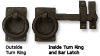 Ring Turn Bar Latch, Solid Bronze -- 850068