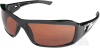 Edge Brazeau Safety Glasses with Black Frame and Copper Lens -- XB115