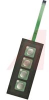 Keypad, Non-Illuminated, 4 Keys, Black Surface Sheet, 20mA @ 24V DC -- 70192456