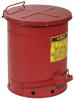 Red Steel Oily Waste Can -- CAN140 -Image
