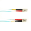 10m (32.8ft) LCLC Aqua OM1 MM Fiber Patch Cable INDR Zip OFNP -- FOCMP62-010M-LCLC-AQ - Image