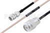 MIL-DTL-17 SMA Male to TNC Male Cable 36 Inch Length Using M17/113-RG316 Coax -- PE3M0096-36 -Image