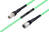 Temperature Conditioned TNC Male to N Male Low Loss Cable 18 Inch Length Using PE-P300LL Coax -- PE3M0240-18 -Image