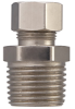 Connection Fittings - Straight, 3/8 in. Male IPS x 3/8 in. OD Comp. - Chrome Plated -- 885 003