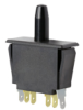 Snap-in Panel Mount Switch, Double Pole Double Throw (DPDT) Circuitry, 10 A at 277 Vac, Bullet Nose Plunger Actuator, Silver Contacts, Quick Connect Termination -- 2DM1