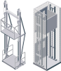 Vertical Hydraulic Material Lifts