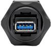 USB 3.0 Coupler, SuperSpeed, 3.0/3.1, Industrial - USB-A F/F, Shielded, IP67, Dust Cap, TAA -- U325-000-IND