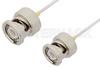 BNC Male to BNC Male Cable 6 Inch Length Using PE-SR047AL Coax -- PE34168LF-6 -Image