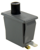 Snap-in Panel Mount Switch, Single Pole Double Throw (SPDT) Circuitry, 10 A at 277 Vac, Concave Plunger Actuator, Silver Contacts, Quick Connect Termination -- 1DM18