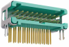 10+10 Pos. Male DIL Horizontal Throughboard Conn. no Latches (T+R) -- G125-MH12005L5R -- View Larger Image