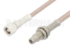 SMC Plug to SMC Jack Bulkhead Cable 24 Inch Length Using RG316 Coax -- PE33690-24 -Image